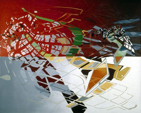 Zaha Hadid painting