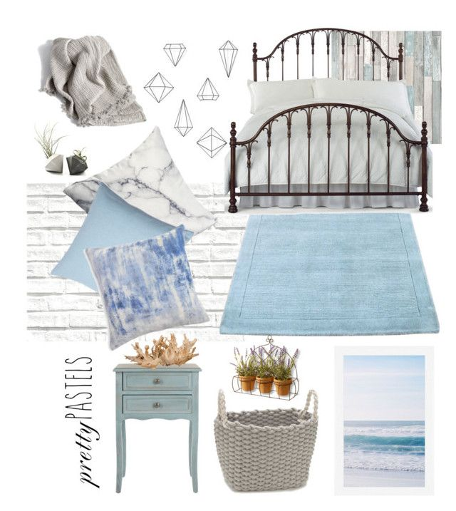 Pastel Perfect by lav-en-der-leaves on Polyvore featuring polyvore interior interiors interior design home home decor interior decorating Hillsdale Furniture Safavieh Blissliving Home Pottery Barn Umbra Modern.Southern.Home. Brewster Home Fashions Madura National Tree Company