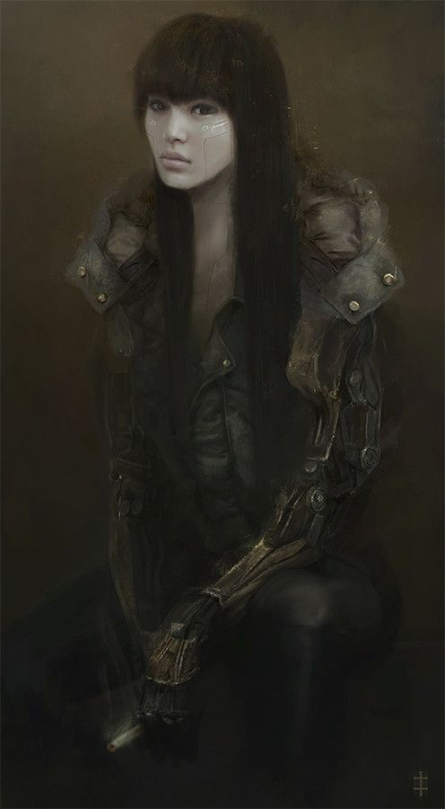 Cyborg Girl, Eve Ventrue on ArtStation at https://www.artstation.com/artwork/JwVZ
