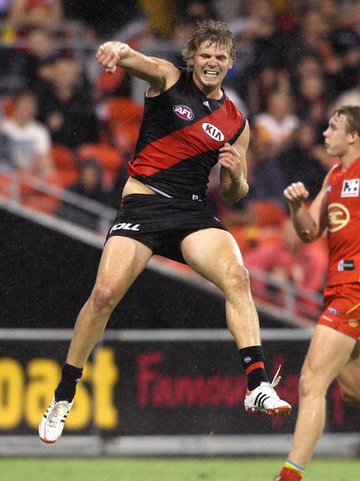 Michael Hurley celebrates a late goal vs the Gold Coast Suns in a game that went down to the wire!