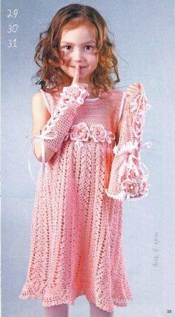 crochet leaves dress for little girl   make handmade, crochet, craft