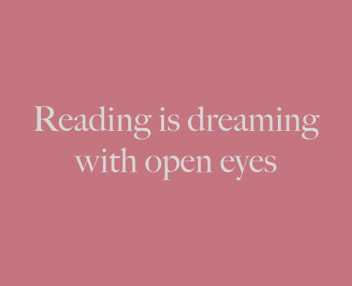 Reading is dreaming with open eyes by david_huerta, via Flickr