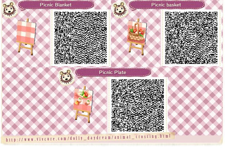 Acnl picnic blanket qr code google search animal for Acnl boden qr codes