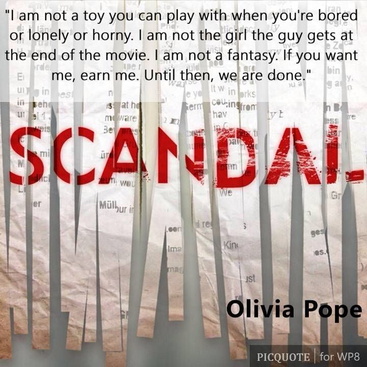 Need more scandal!?!!?