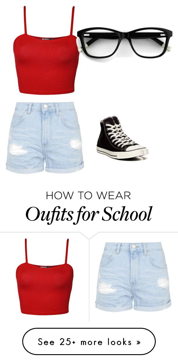 """""""School Oufit"""" by santa10 on Polyvore featuring moda, Topshop, Converse e WearAll"""