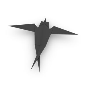 traditional origami swallow for kids