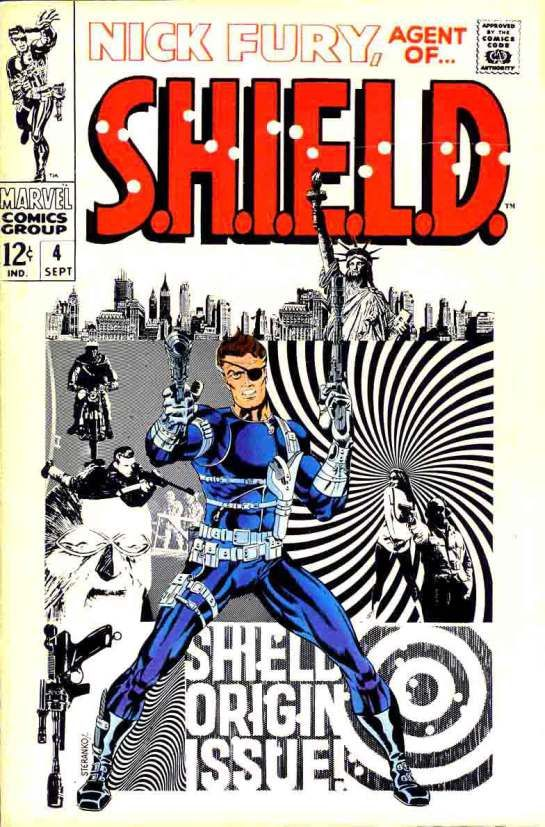 Cover to Nick Fury Agent of SHILED #4