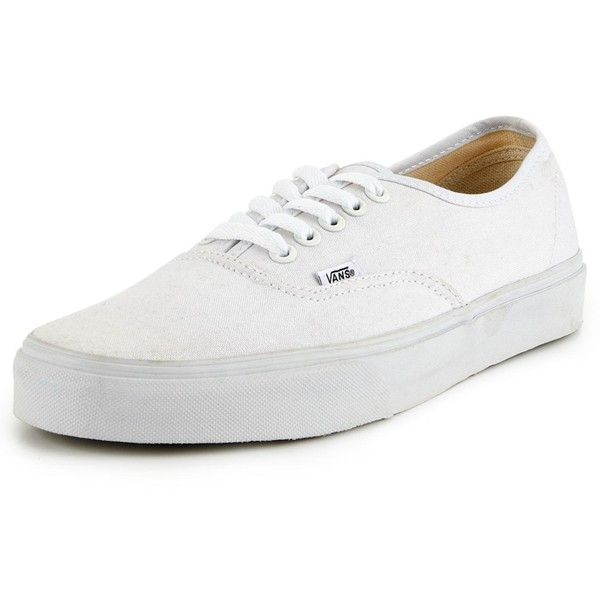 Vans Authentic Mens Plimsolls ($66) ❤ liked on Polyvore featuring shoes, sneakers, canvas sneakers, sports shoes, laced shoes, vans footwear and laced up shoes