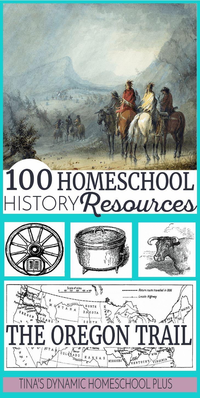 100 Oregon Trail Homeschool History Resources