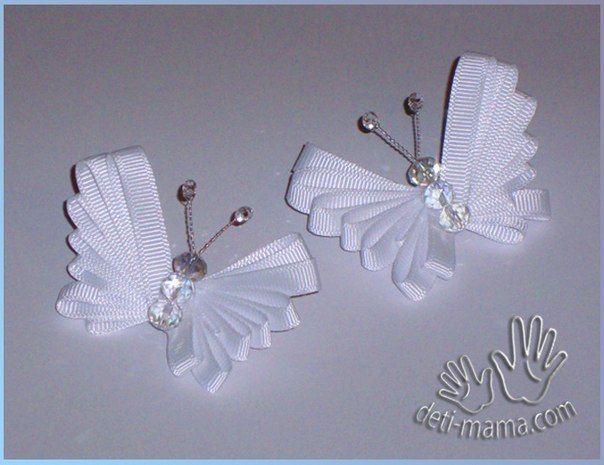 Бабочка из лент - Бижутерия.Украшения