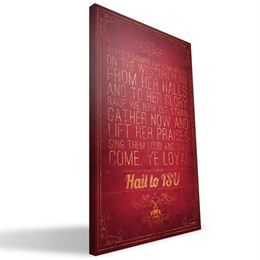"""Iowa State Cyclones 16"""" x 24"""" Song Canvas Print"""
