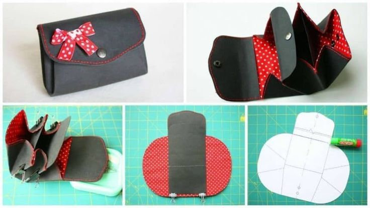 How to sew a purse We need: Washable Kraft paper; Cotton fabric for lining; Two buttons; Equipment for installation of buttons; Stationery glue; Clay Momen