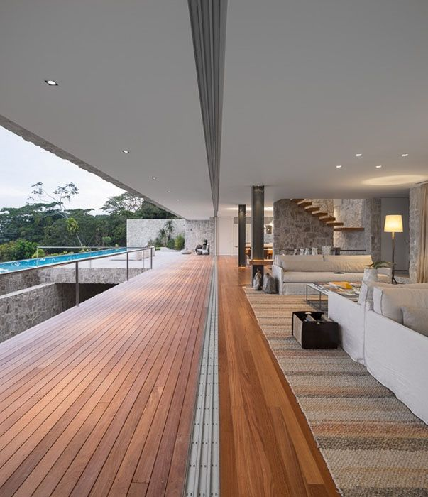 Impresionante residencia en r o de janeiro arquitectura for Casa minimalista harborview hills