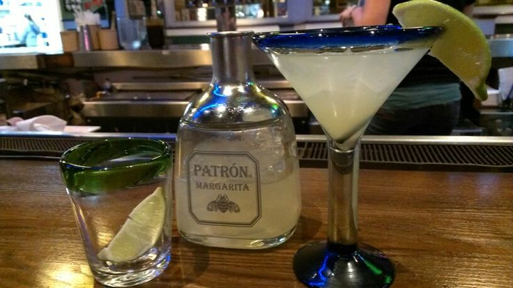 Chili's Bar & grills newest addition the Patron margarita. A masterful blend of traditional margarita ingredients with patron silver and patron Citronge, prepared in a novel patron bottle styled shaker. Highly recommend.