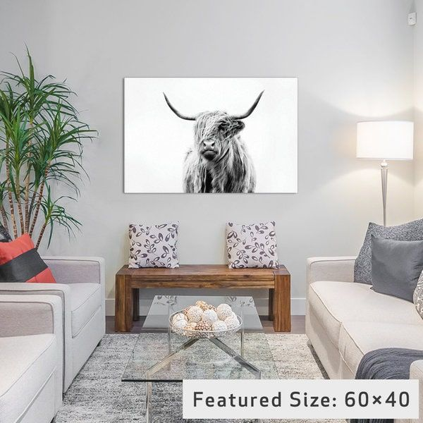 iCanvas Portrait Of A Highland Cow by Dorit Fuhg Canvas Print