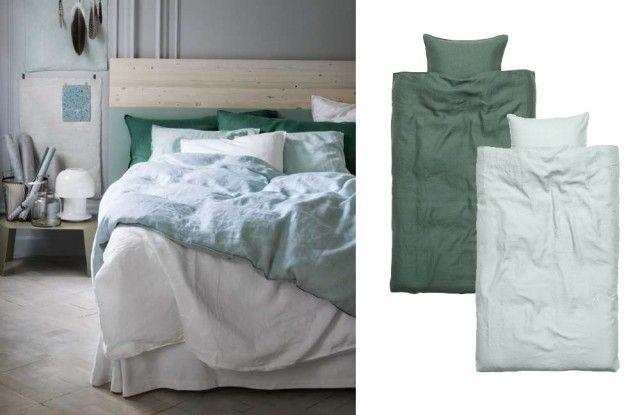 Linnelakan och linnesängkläder – H&M Home – Husligheter