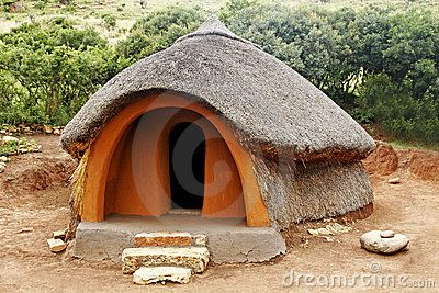 south African huts   traditional african hut found in the rural areas of africa