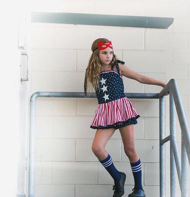 Bella Wilson modelling for Lulustars 'Super Girl' in 2016.