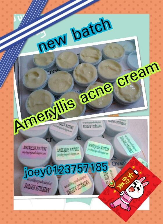 Fresh stock new batch making for happy Sunday today wuhoooo as last week all ameryllis acne cream.was sold out thanks support. Ya interested wechatjoey2383 or whatsapp 0123757185 joeyshoppingmalls.blogspot.com pric. Only rm30. West msia east rm40. Free pos laju intro pricing  testimonial proven by customer one day acne reduce wah