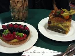 Fruit Tart and Bread & Butter Pudding Cake