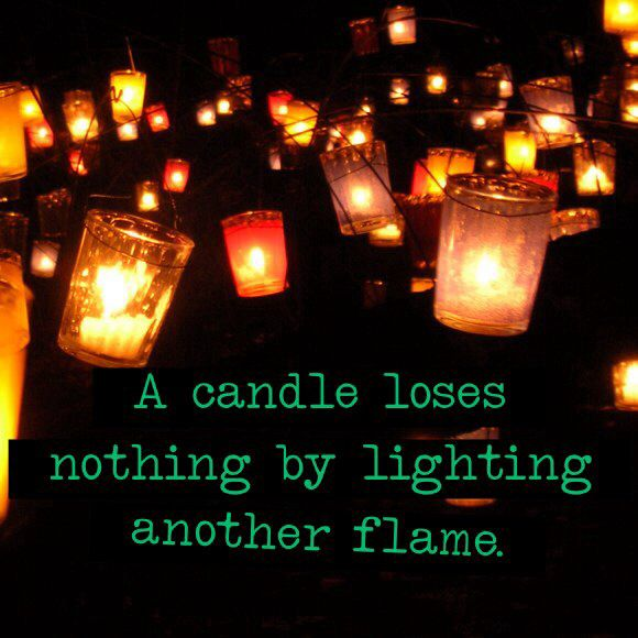 A candle loses nothing by lighting another flame. Relationships, dating, love, limitless, polyamory, open relationships, the ethical slut