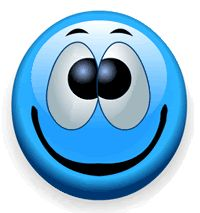 Big Blue Smiley Face