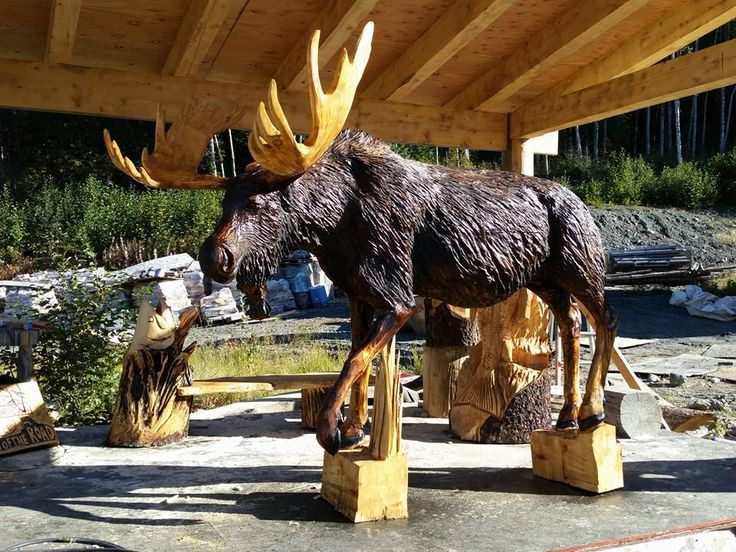 Best moose yard images on pinterest carved wood