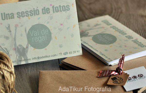 Vale - regalo sesión de fotos. Packaging handmade (adatikur.com)