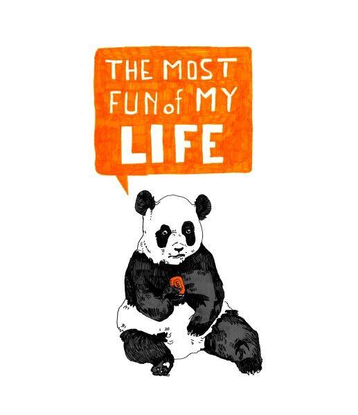 Panda #panda #sweet #drawinh #illustration #fun #comics