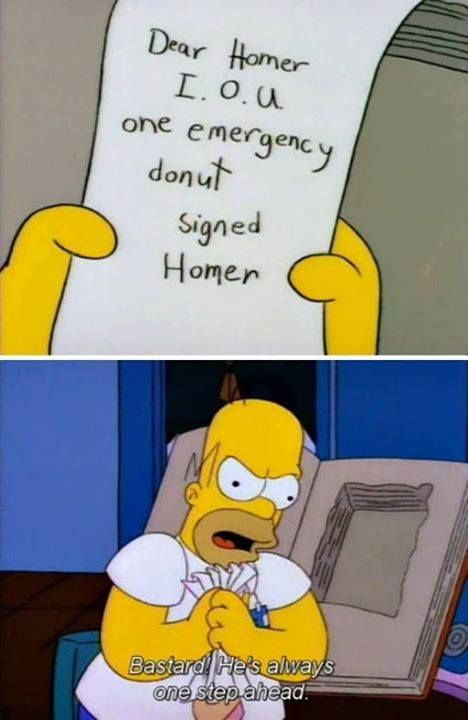 Homer are always a step ahead of himself! #pic