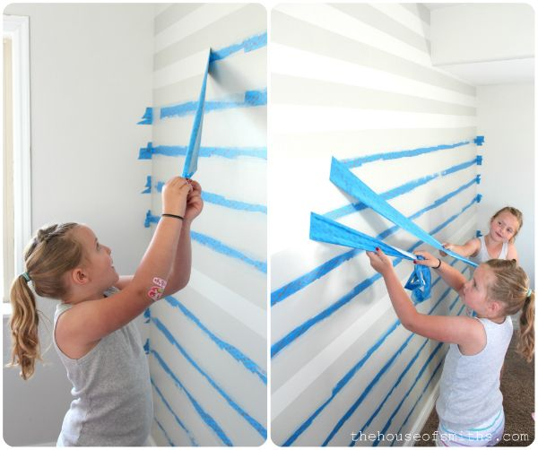 The House of Smiths - Home DIY Blog - Striped Accent Wall