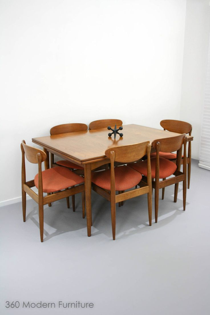MID Century Parker SET OF 6 Spadeback Teak Dining Chairs Vintage Retro Danish ebay | 360 MODERN FURNITURE