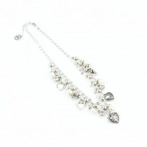 Bibi Bijoux pearl and hearts necklace