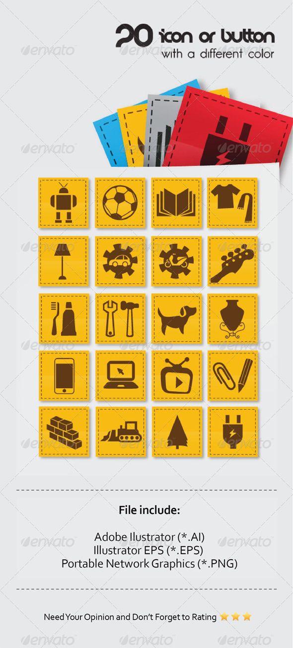 20 icon online store stuff