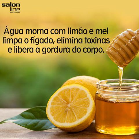 água morna com limão e mel limpa o fígado, elimina toxinas e libera a gordura do corpo.