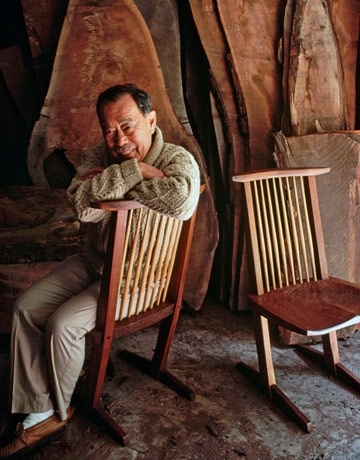 George Nakashima - well, I love the chair, but what drew me in initially was this man's face - how pleasant and peaceful!
