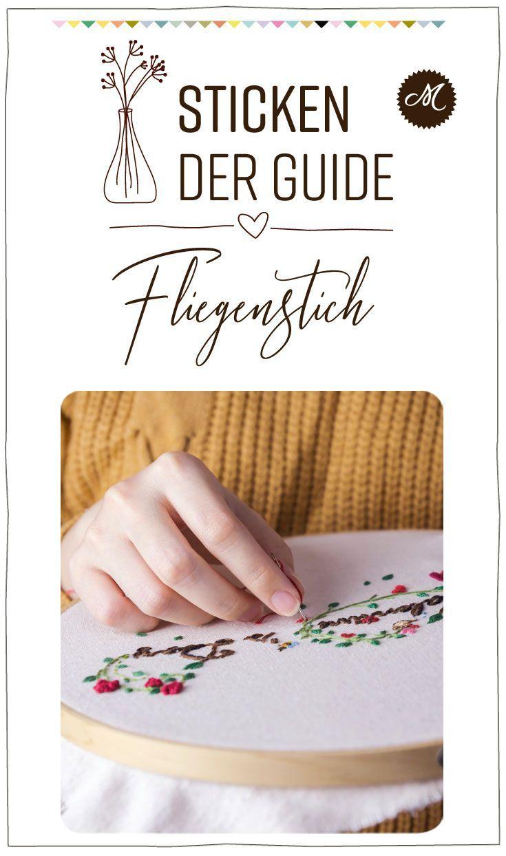 Mollie Makes Stick Guide 10 Fliegenstich Vorstich Sticken Kettenstich