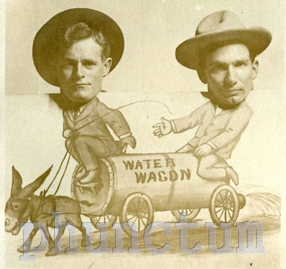 Vintage Arcade Real Photo Postcard Two Men on Water by phunctum, $15.00