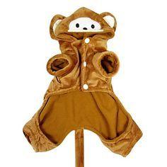 Engraçado estilo bonito macaco de estimação com capuz Suit for Dogs (XS-XL) – BRL R$ 33,21