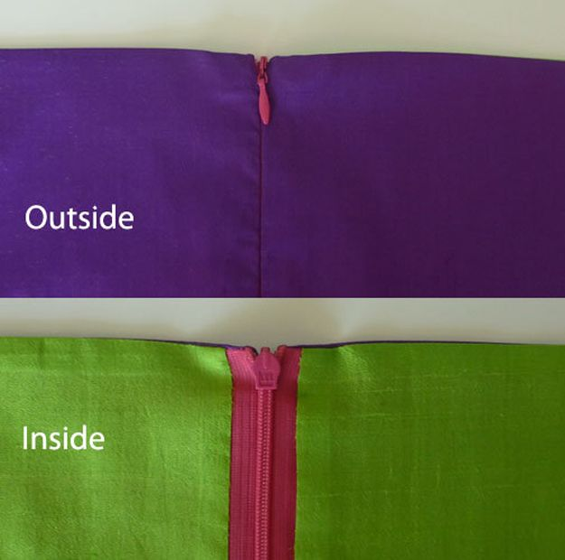Invisible Zipper Tutorial | Cool Sewing Hack Ideas  and Projects by DIY Ready at http://diyready.com/sewing-ideas-life-hacks/
