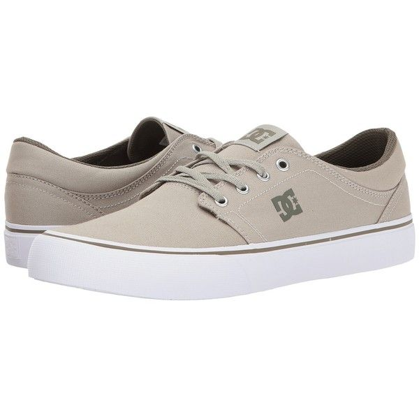 DC Trase TX (Limestone) Skate Shoes (€38) ❤ liked on Polyvore featuring shoes, sneakers, skate shoes, canvas shoes, canvas low tops, low top canvas sneakers and dc shoes