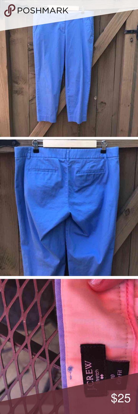 J. Crew size 10 blue city fit cropped pants J. Crew size 10 blue city fit cropped pants: LOCATION: bin 5 J. Crew Pants Ankle & Cropped
