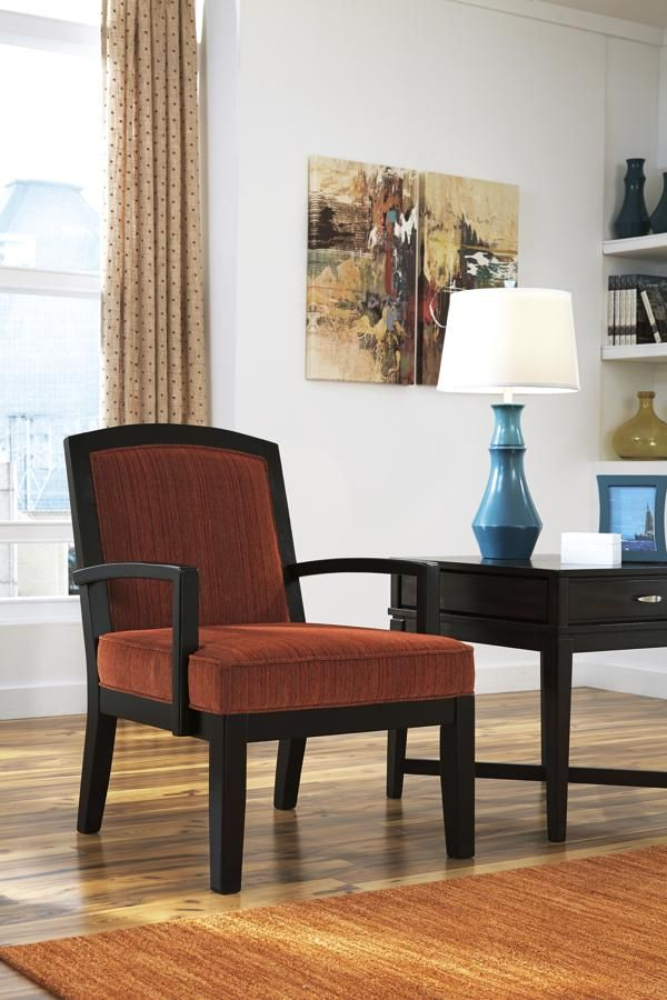 Orrin Contemporary Orange Polyester Accent Chair
