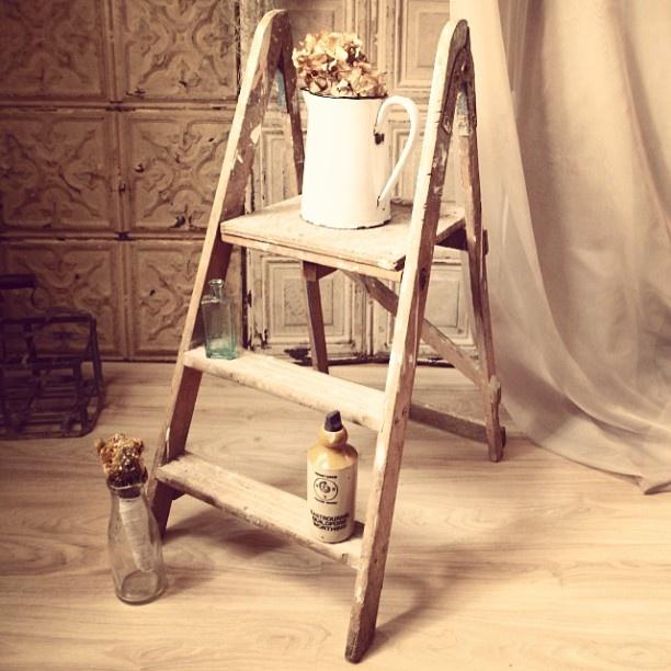 ハシゴUPしました    小さめのハシゴさん。  トップの部分が広いので、ディスプレーにも使いやすいo(^▽^)o  もちろんまだハシゴとしての機能もちゃんと果たしているので、キッチンの手の届かない所などにも使えます。   折りたたみ式なので、収納できて◎    11800円 www.north6antiques.com    #ladder,#ハシゴ,#はしご,#梯子,#木,#棚,#シェルフ,#アンティーク,#台,#カントリー,#ナチュラル,#レトロ,#骨董品,#ヴィンテージ,#アンティークはしご,#インテリア,#雑貨,#家具,#アンティーク家具,#イギリス,#ヨーロッパ