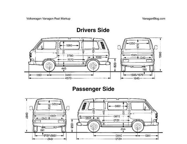 vanagon dimensions