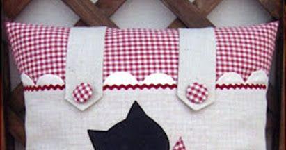 Moldes para Artesanato em Tecido: Almofada Gatinho