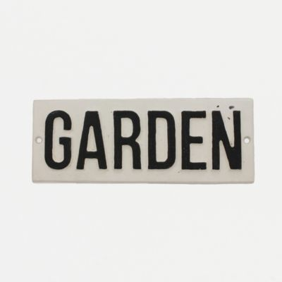 Cast Iron Garden Sign in House Home HOME DÉCOR Baskets Utility Signs at Terrain