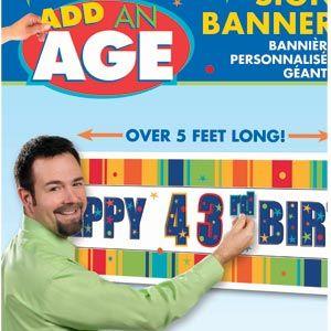 Customizable Giant Sign Birthday Banner