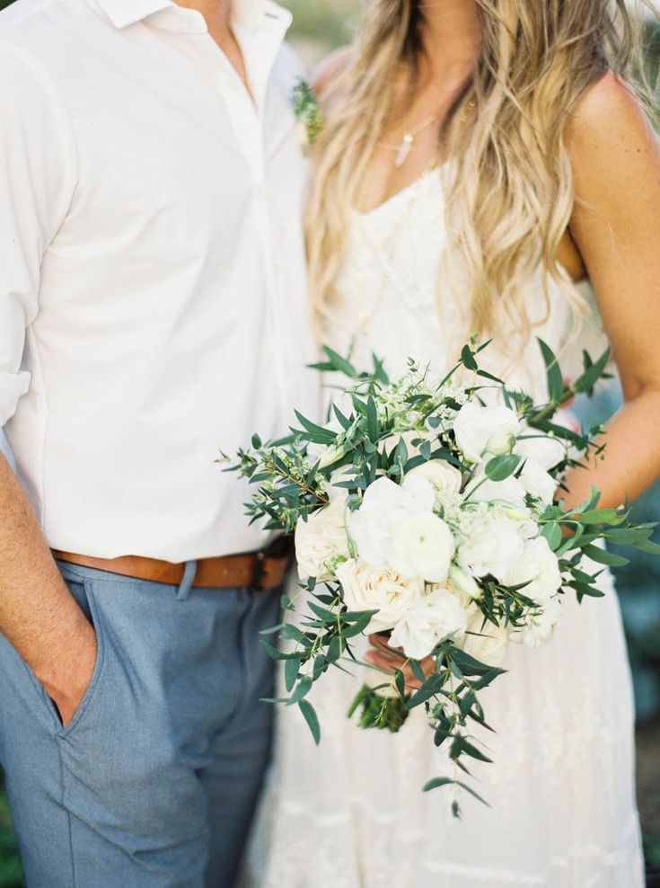 Rustic peony and olive branch wedding bouquet: Photography: Anne Blodgett Photography - anneblodgettphotography.com   Read More on SMP: http://www.stylemepretty.com/destination-weddings/mexico-weddings/2016/07/07//