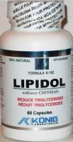Lipidol cu Chitosan 60 caps Reduce Colesterolul Rau